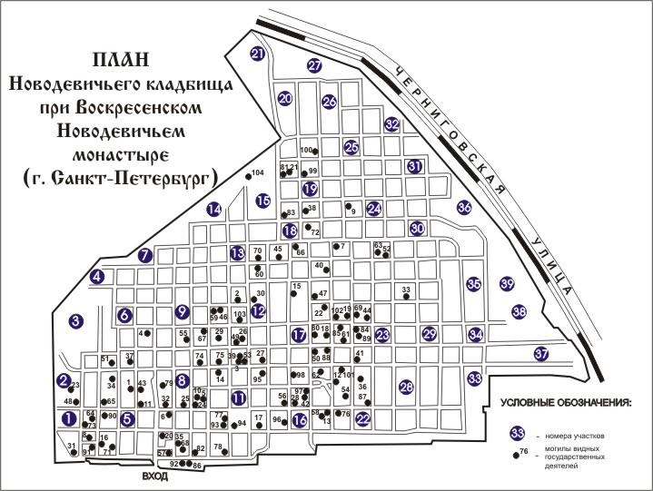 Новодевичье кладбище в Санкт-